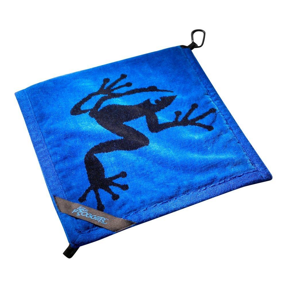 Frogger Golf Amphibian Wet/Dry Golf Towel, Blue/Black by Frogger