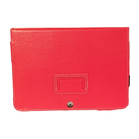 Kyasi Seattle Classic 10 1-inch Folio Case Cover Stand in Premium PU  Leather for Samsung Galaxy Tab 2, Rad Red