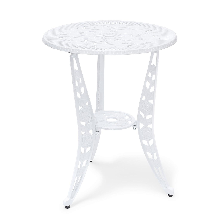 Relaxdays Tavolo da Giardino Stile Antico in Alluminio HBT: 64 X 50 X 50 cm, Tavolino in Alluminio, Ideale per Terrazzo, Balcone e Giardino d'inverno 10020098_49