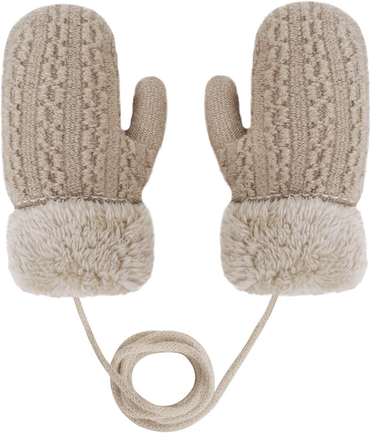 Hinder Moufles de ski pour enfants avec ficelle chaude doubl/ée en polaire Gants r/ésistants /à leau pour gar/çons filles 3 5 ans