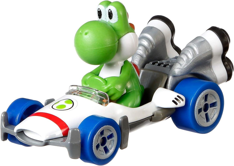 Hot Wheels - Mario Kart, Yoshi, Vehiculos, Coche de juguete (Mattel GBG29) , color/modelo surtido