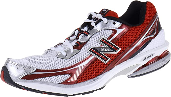 New Balance MR828WR - Zapatillas de running para hombre, color blanco, plateado y rojo, color Multicolor, talla 45 EU: Amazon.es: Zapatos y complementos
