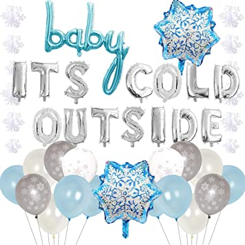 Amazon.com: Baby Its Cold Outside Party Decoraciones Azul ...