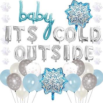 Amazon.com: Baby Its Cold Outside Party Decoraciones Azul ...