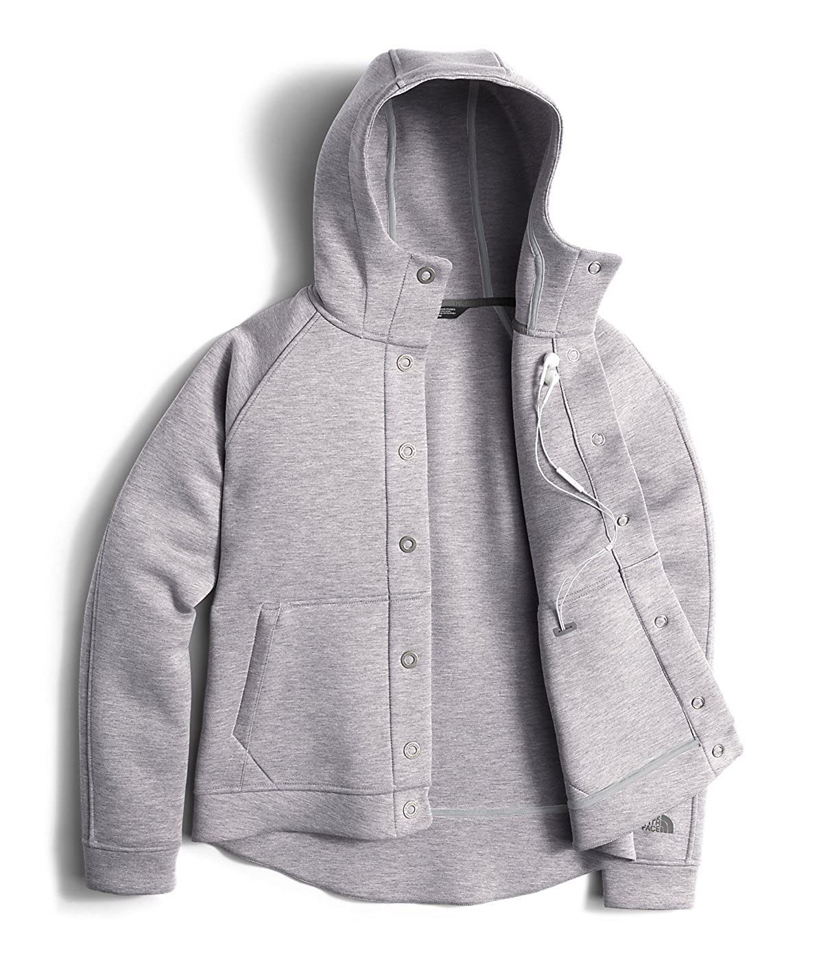 0167c464b The North Face Thermal 3D Snap Hoodie Light Grey Heather