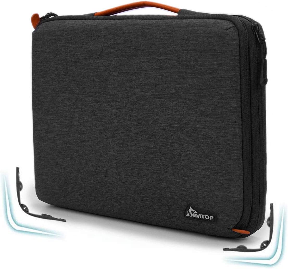 "SIMTOP 15.6 Inch Laptop Sleeve Briefcase Bag for 15.6"" HP ASUS VivoBook ZenBook/Lenovo Ideapad ThinkPad/MacBook Pro/Surface Book/Dell XPS Latitude/Acer Nitro Predator Aspire/Samsung Sony Chromebook"
