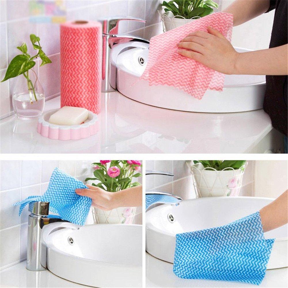 balatahome desechables no tejida paño hogar Limpieza Toalla de papel reutilizable manopla de limpieza trapos paño de cocina paño de limpieza: Amazon.es: ...