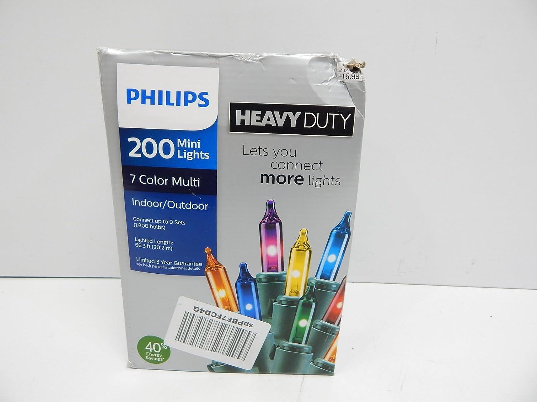 Amazon.com: Philips Heavy Duty 200 Bulbs Multi Color Mini Lights ...