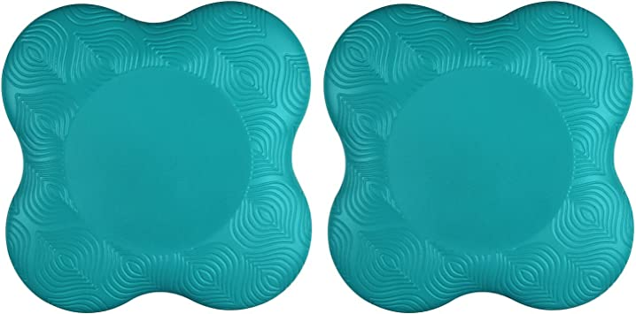Aiweitey Yoga Knee Pad Thick Kneeling Pad Soft Cushion Support for Knees, Elbow, Hand, and Head-2 Packs