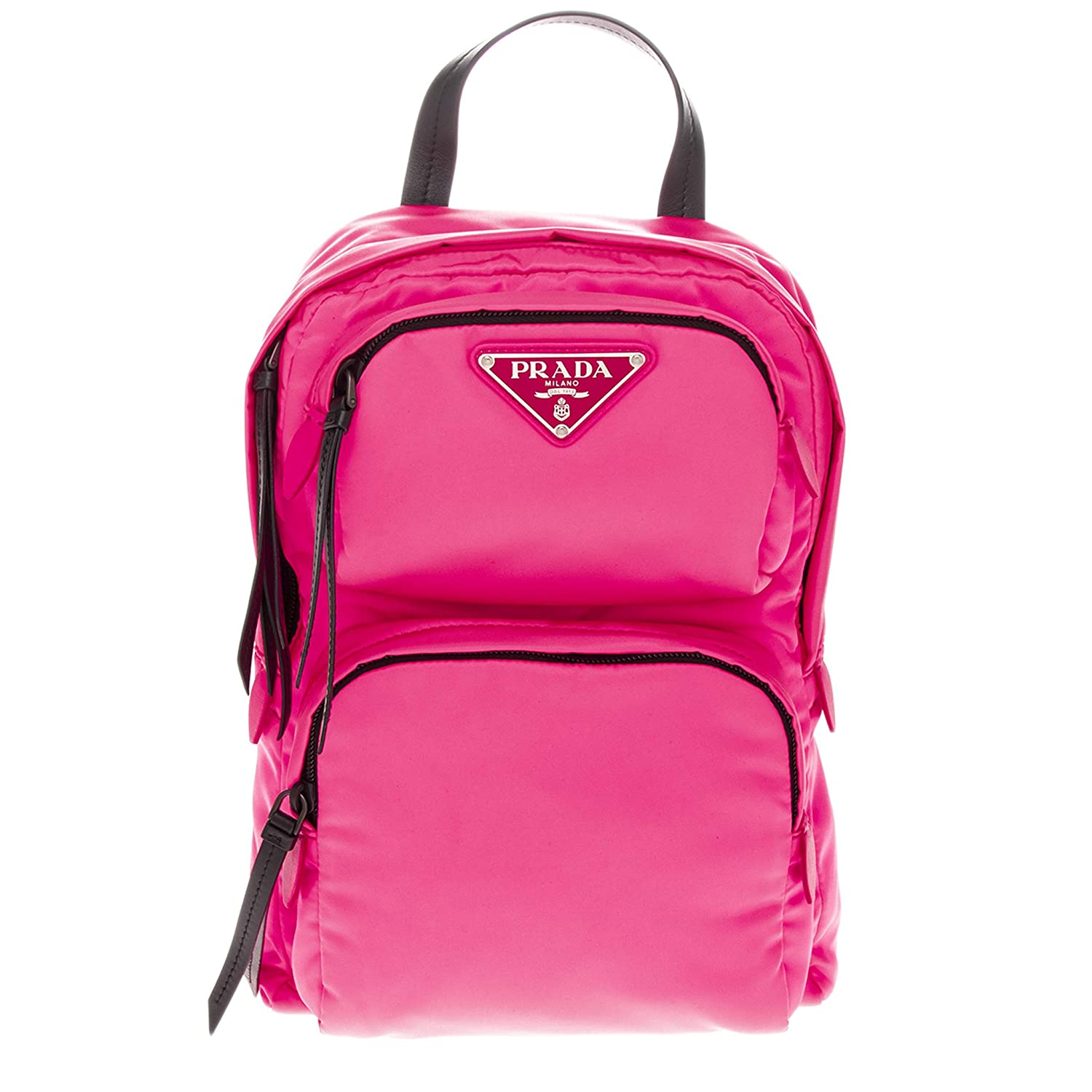 3bbbd7262324 Amazon.com | Prada Nylon/Leather One Shoulder Backpack Neon Pink | Casual  Daypacks