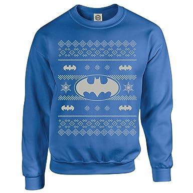 Official DC Originals Christmas Knit Batman,Mens Sweatshirt,Royal ...