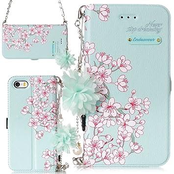 4ed82af5c7 iphone5s ケース おしゃれ 花 アイフォン5 カバー かわいい 桜 さく アイフォン5seケース 手帳型 人気