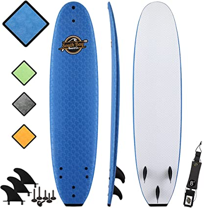 Amazon Com 8 Beginner Foam Surfboard Premium Soft Top