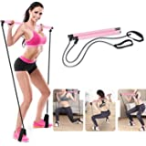 Tooyyer Pilates Bar, Pilates Bar Kit with Resistance Band, Adjustable Resistance Belt Length, Home Workout Fitness Equipment,
