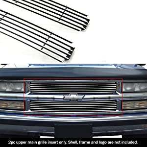 APS Compatible with 94-99 C K Pickup Suburban Blazer Tahoe Main Upper Billet Grille C85011A