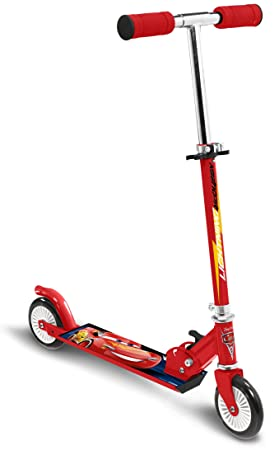 STAMP SAS Cars 3 Scooter Foldable, Niños, Red, 5+