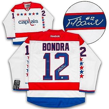 5b7e3351ba4 ... shopping peter bondra washington capitals autographed retro reebok  premier hockey jersey 154c3 a463e