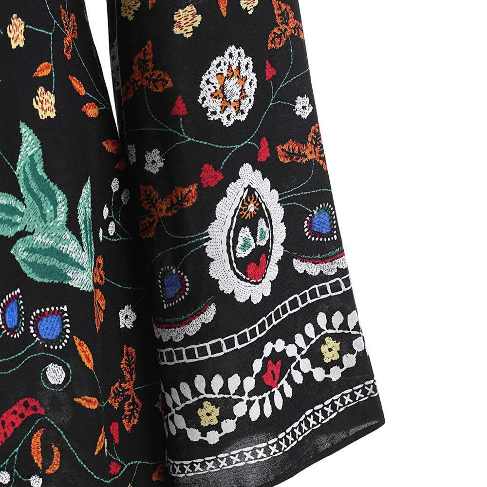 ❀ Vestidos Largos para Boda De Noche Vestido Largo Flojo Impreso Flojo Impreso Floral De La Manga Larga De Las Mujeres De La Moda: Amazon.es: Ropa y ...