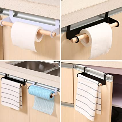 Bathroom Fixtures New Arrivials Kitchen Towel Holder Roll Paper Storage Rack Tissue Hanger Under Cabinet Door Bathroom Hardware