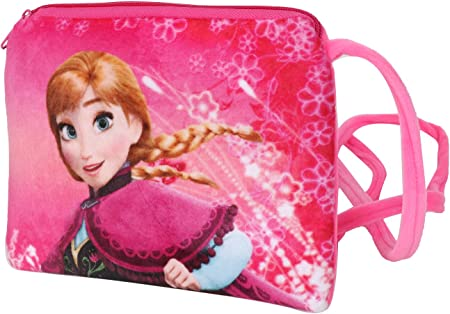 Chords Dark Pink Disney Frozen Young Princess Anna Sling Bag for Girls 20CM
