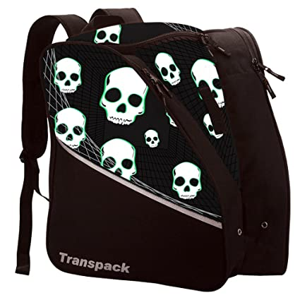 Image Unavailable. Image not available for. Color  Transpack Edge Junior  Kids Ski Snowboard Boot Bag - Black Green Skull 3a2290e48d7a2