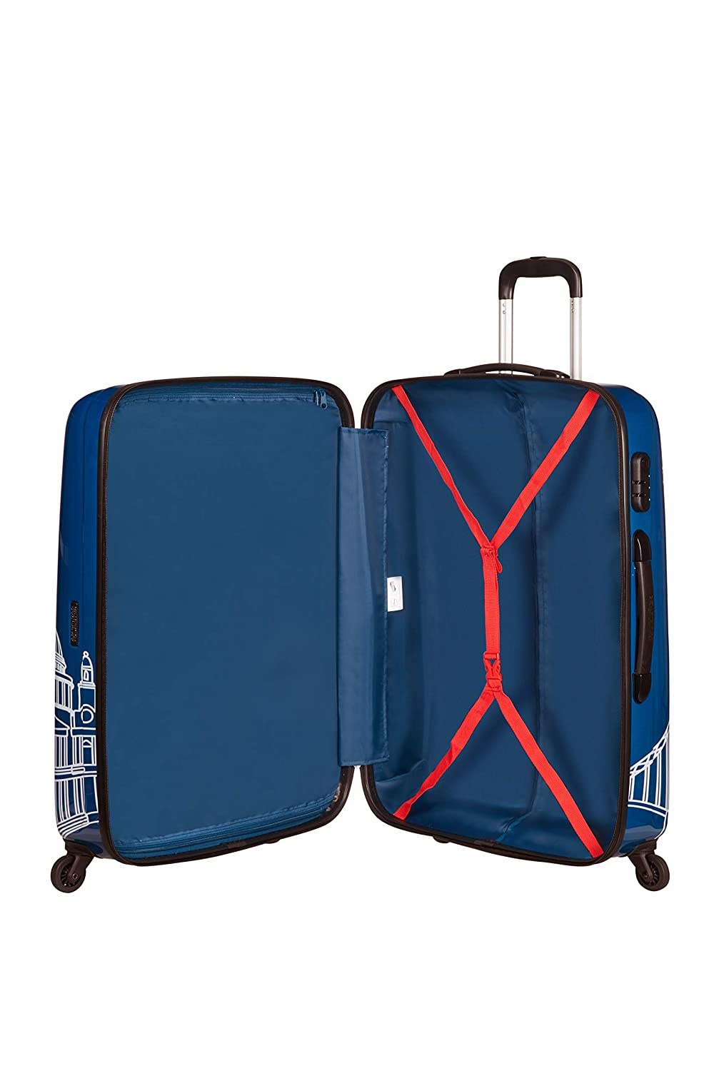 Blu 75 cm Spinner Large Alfatwist Bagaglio a mano 88 liters Mickey London American Tourister Disney Legends