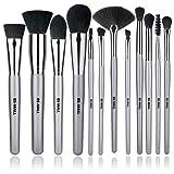 Amazon Price History for:BS-MALL 12 PCS Makeup Brush Set Premium Synthetic Silver Foundation Blending Blush Face Powder Brush Makeup Brush Kit