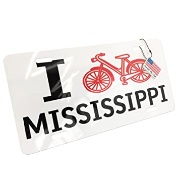 Amazoncom Neonblond Metal License Plate I Love Cycling State