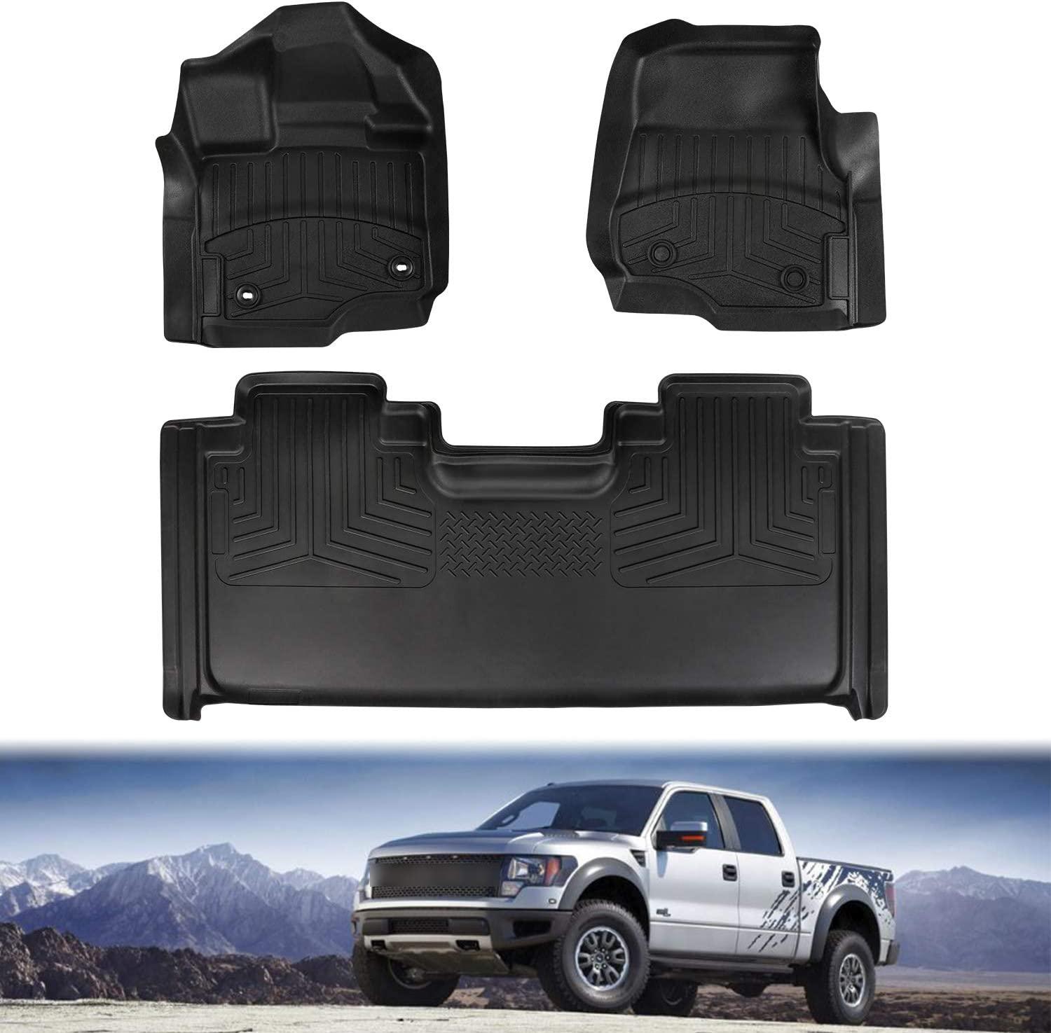 EBESTauto Jeep Grand Cherokee Cargo Mat for 2011-2018 Jeep Grand Cherokee Trunk Mat Rear Cargo Liner Mats Heavy Duty Cargo Tray Trunk Floor Mat Waterproof