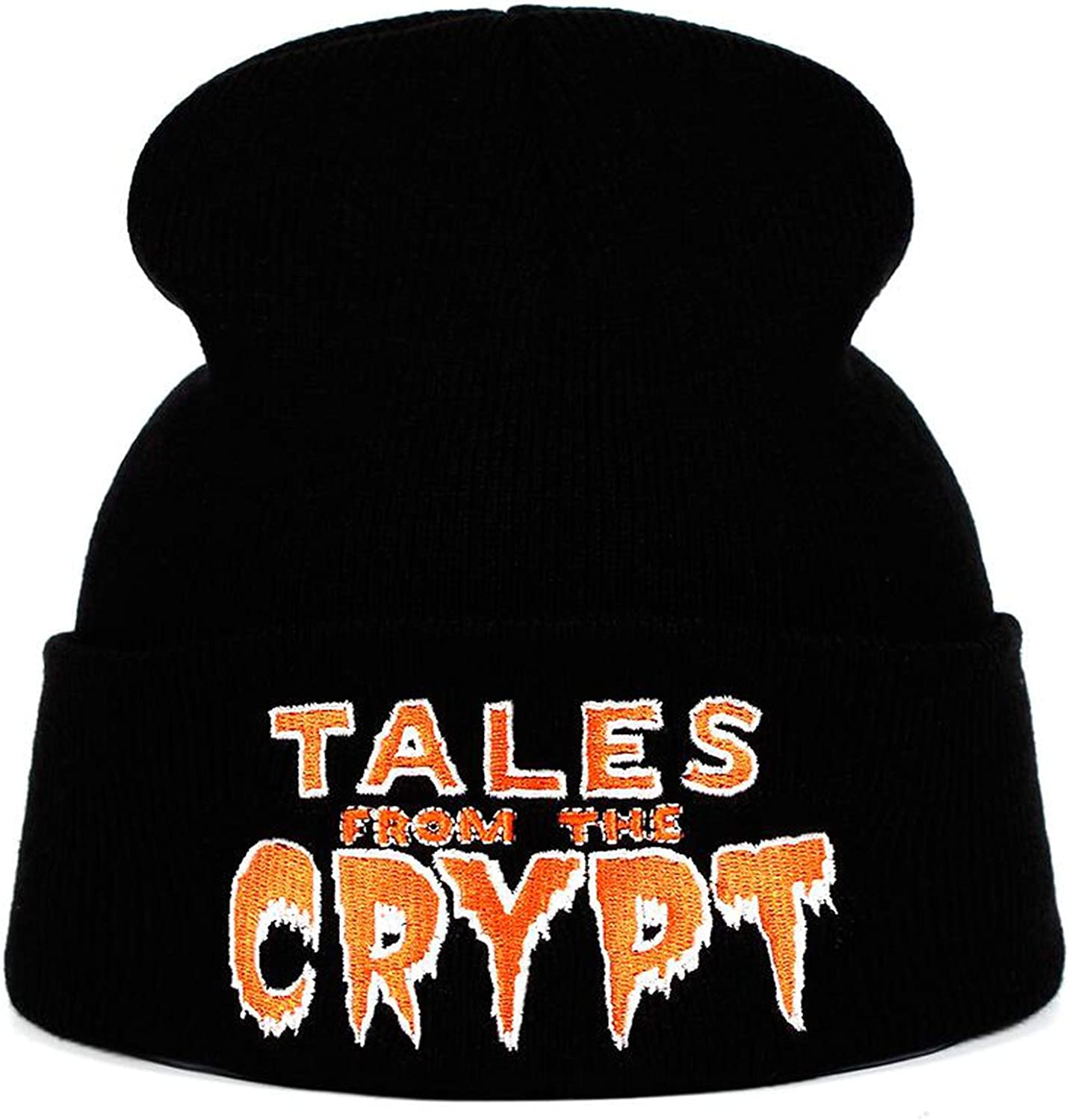 Eric Carl The Crypt Knitted Hat Hats Elastic Embroidery Beanie Warm Winter Skullies Cartoon Image Ski Cap