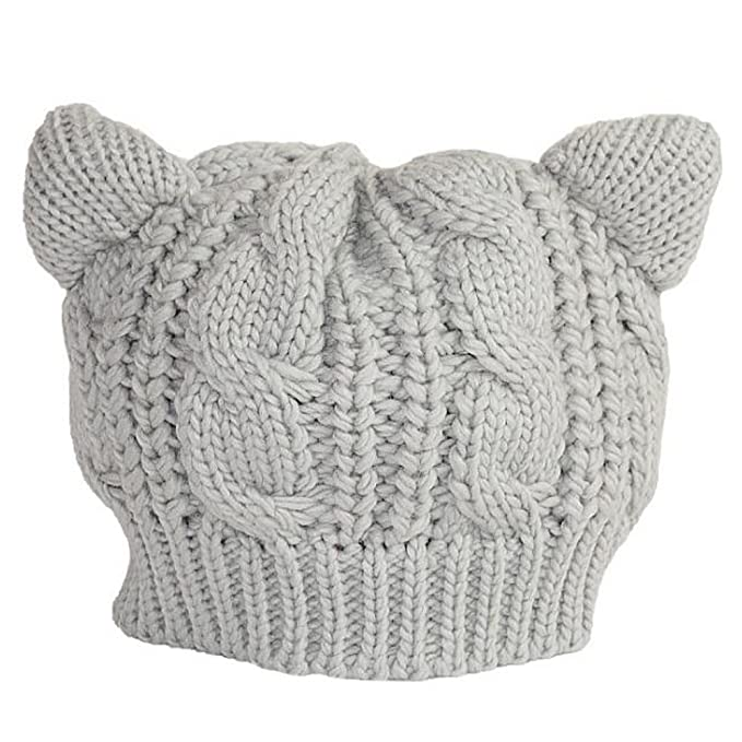 a42e0f394f2 Elegant libra Women Adult Beret knitted Hat Cat Ears Hats for Autumn and  Winter  Amazon.ca  Clothing   Accessories