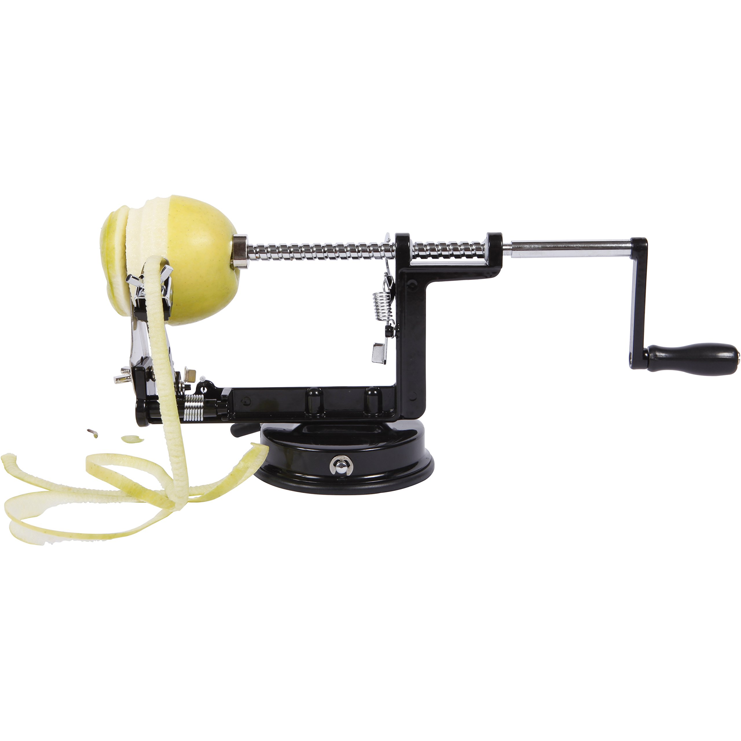 Precision Kitchenware - Stainless Steel Apple Peeler Corer and Slicer - Luxury Black Edition by Precision Kitchenware