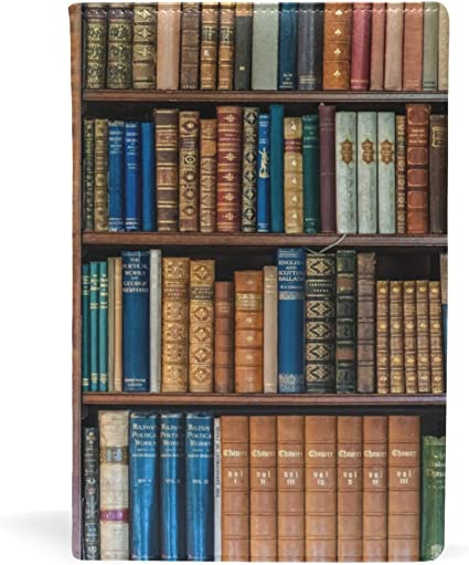 Bennigiry - Estantería de piel para libros, estilo vintage ...