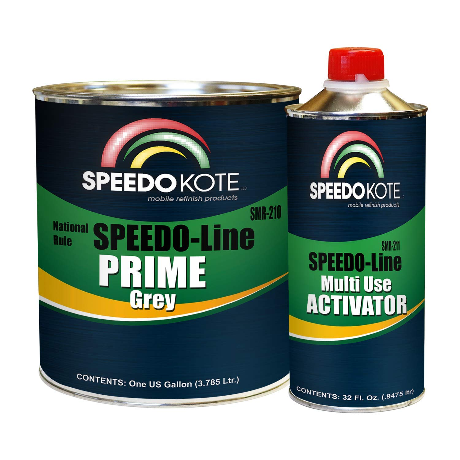 Speedokote SMR-210/211 - Automotive High Build 2K Urethane Primer Gray Gallon Kit, Fast Dry, Easy Sanding, Activator is included by Speedokote (Image #1)