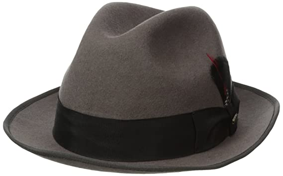 Image Unavailable. Image not available for. Color  Scala Classico Men s Wool  Felt Fedora ... 1ddb845d1b8