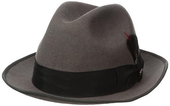 a7fc6228 SCALA Classico Men's Wool Felt Fedora Hat at Amazon Men's Clothing store:
