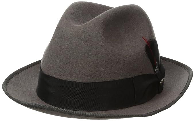 SCALA Classico Men s Wool Felt Fedora Hat at Amazon Men s Clothing ... 132740c5ccc0