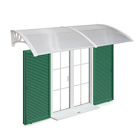Peach Tree Overhead Door Window Outdoor Awning Door Canopy Patio Cover  Modern Polycarbonate Rain Snow Protection