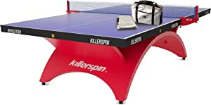 Killerspin Revolution SVR Red1 Table Tennis Table, Indoor Ping Pong Table with Net and Steel Posts, High-End Table for Game Room or Basement - Red & Blue