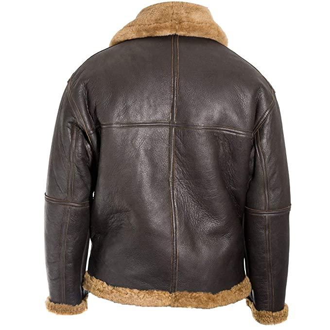 Amazon.com: RAF Aviator - Chaqueta de piel de oveja, color ...
