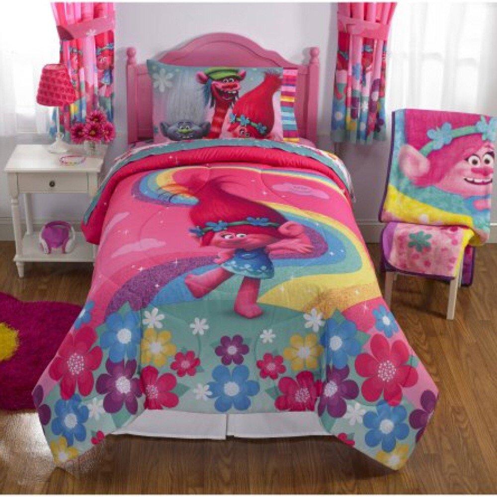DreamWorks Trolls Complete 4 Piece Girls Comforter Set - Twin by DreamWorks (Image #4)