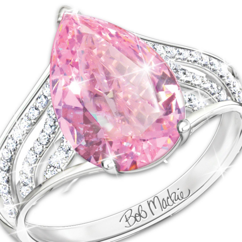 Amazon.com: Ring: Pink Beauty Diamonesk Sterling Silver Women\'s Ring ...