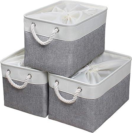 KEEGH - Caja de almacenamiento con tapa (3 unidades): Amazon.es: Bricolaje y herramientas