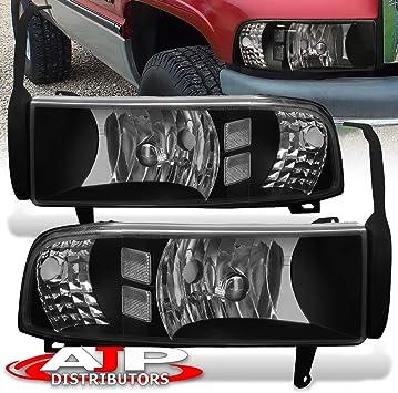 94 95 96 97 98 99 00 01 Dodge Ram 1500 2500 Headlights /& Corner Signal Black