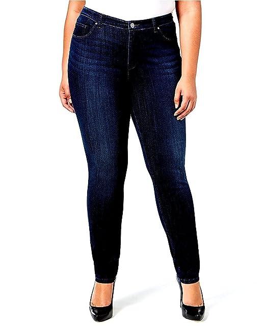 d3ab96fa4d2 Jack David Dark Blue Womens Plus Size Stretch Soft Butter Skinny Premium Denim  Jeans Pants Size 18 20 22 24 at Amazon Women's Jeans store