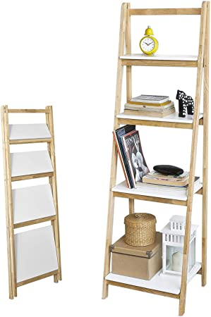 SoBuy® frg186-n, 4 Niveles estantería de Pared Escalera Estante, Almacenamiento estanterías Pantalla estantería: Amazon.es: Hogar