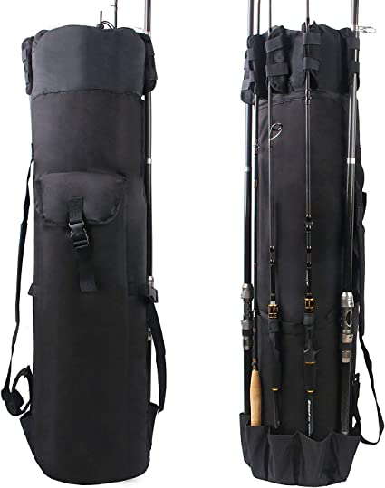 Fishing Tackle Backpack Fishing Carrier Bag for Hiking Traveling Round