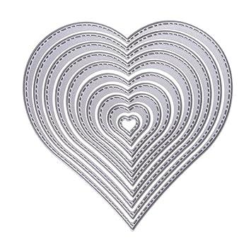 valink 10 Stück Herz Rahmen DIY Formen, Metall schneiden stirbt ...
