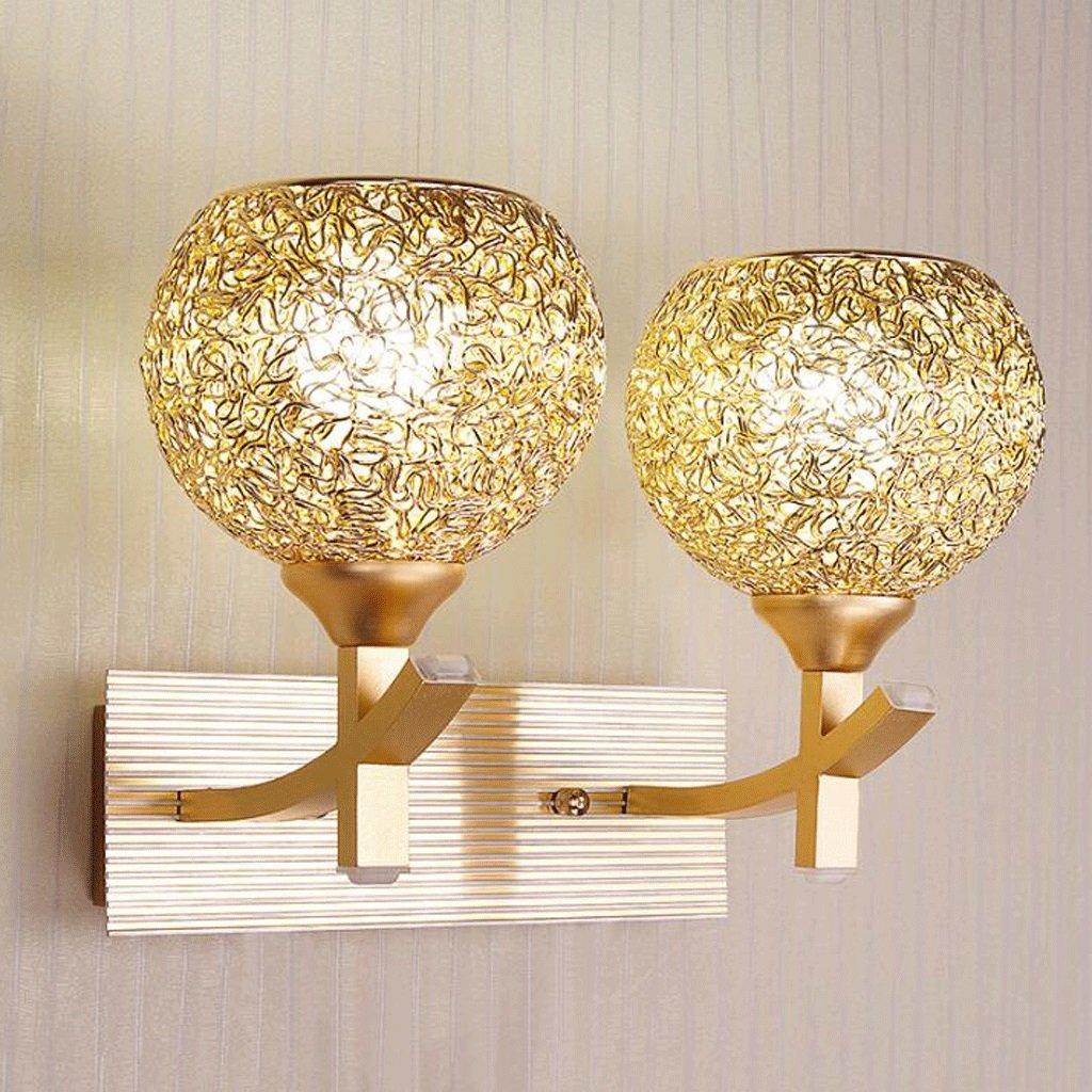 Wandleuchten GAOLILI Einfache Moderne Wohnzimmer Schlafzimmer Nachtlicht Spiegel Scheinwerfer Gang Treppenhaus Licht Aluminium Rostfrei Leicht zu Reinigen E27 (Farbe   B)