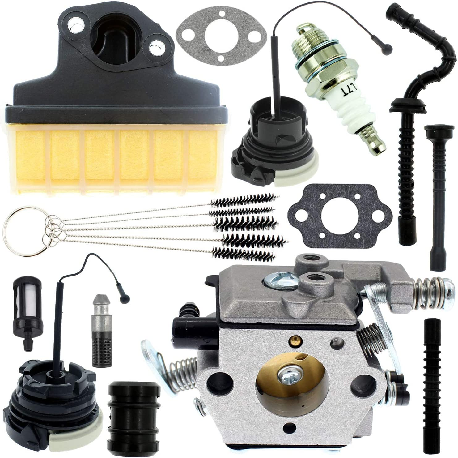 Carburetor Carb Gasket Oil Fuel Filter Line Intake Manifold Inlet Repower Kit for STIHL 021 023 025 MS210 MS230 MS250